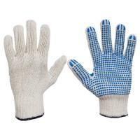 Rękawice bawełniane nakrapiane PCW SWG-GD