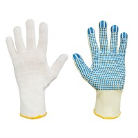 Rękawice bawełniane nakrapiane PCW SWG-CD