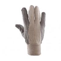 Rękawice drelichowe nakrapiane PCV