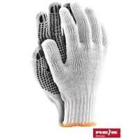 Rękawice z dzianiny z nakropieniem PCV RDZN
