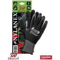 Rękawice ochronne zakończone ściągaczem NYLANEX