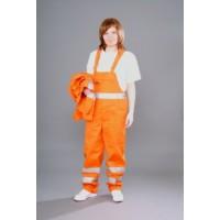 Ubranie ostrzegawcze pomarańczowe z pasami CEZAR