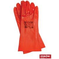 Rękawice ochronne PCV z mankietem RPCV35