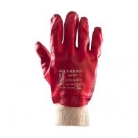 Rękawice ochronne PCV POLYRED ŚCIĄGACZ
