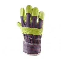 Rękawice ochronne wzmacniane skórą PLS-1 ŻÓŁTE