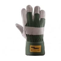 Rękawice ochronne wzmacniane skórą HADDOCK G1 ZIELONE