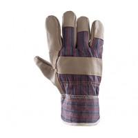 Rękawice ochronne wzmacniane skórą PLS-1 LICOWANE