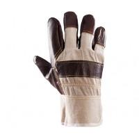 Rękawice ochronne wzmacniane skórą PLS-1 LICOWANE LUX/P