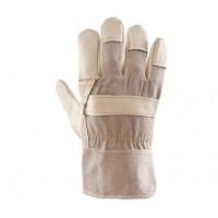 Rękawice ochronne wzmacniane skórą PLS-1 LICOWANE S/K