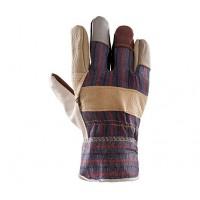 Rękawice ochronne wzmacniane skórą PLS-1 LICOWANE TĘCZA