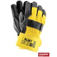 Rękawice ochronne wzmacniane skórą RLMY