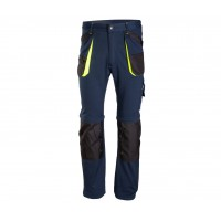 Spodnie BRIXTON PRACTICAL ODPINANE NOGAWKI GRANAT/ŻÓŁTY
